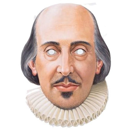 William Shakespeare Card Mask