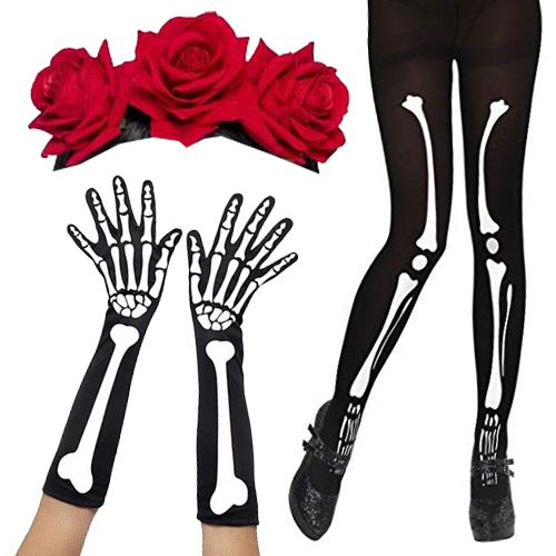 Female Day of the Dead Fancy Dress Kit