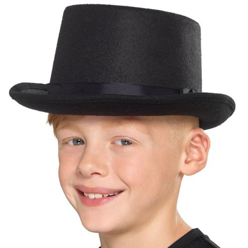 Children's Black Top Hat