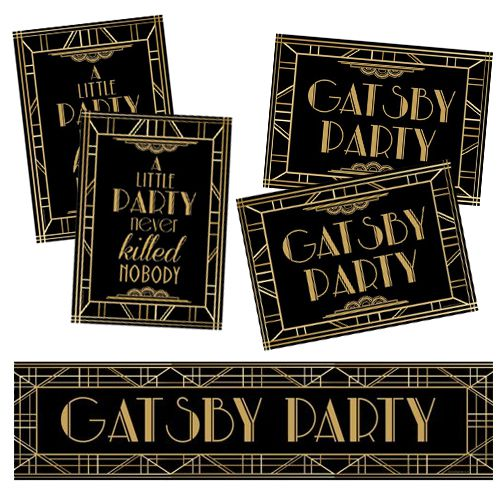 1920s Gatsby Poster Pack