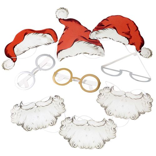 Santa Photobooth Props - Pack of 18