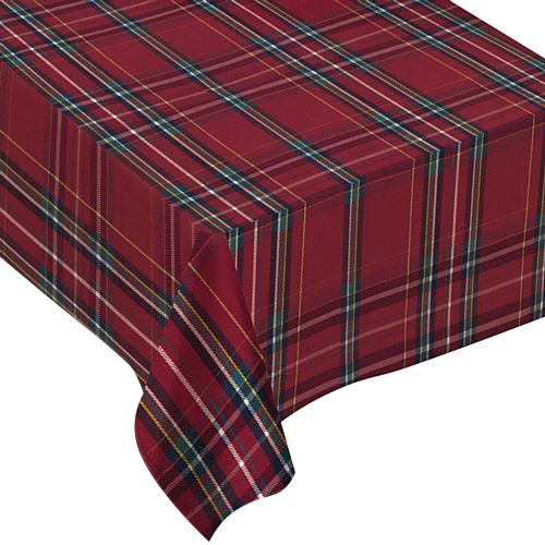 Tartan Printed Fabric Tablecloth - 2.13m