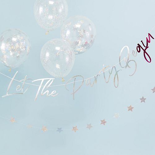 Holographic Let The Party BeGIN Bunting - 1.5m