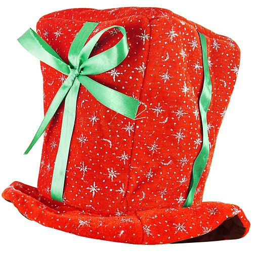 Plush Christmas Present Hat - 32cm