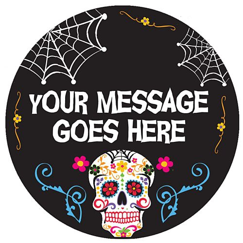 Personalised Badge 58mm - Day of the Dead