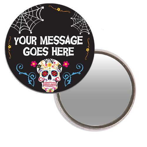 Personalised Pocket Mirror - Day of the Dead
