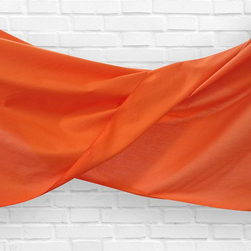Orange Fabric Drapes - 1.1m Wide - Per Metre