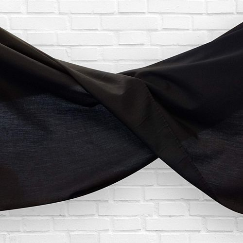 Black Fabric Drapes - 1.1m Wide - Per Metre