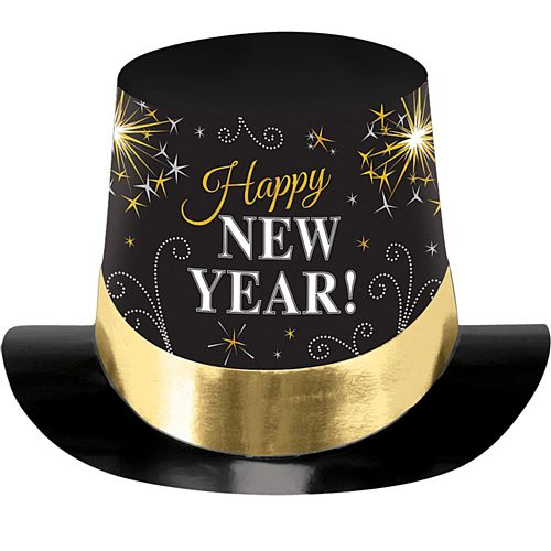 Black Card New Year Top Hat