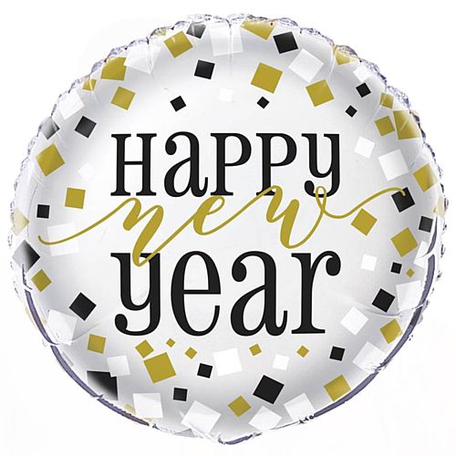 Happy New Year Foil Balloon - 18""