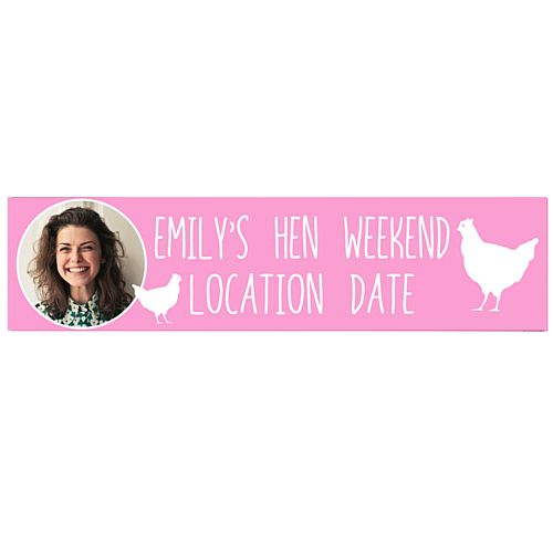 Light Pink Hen Personalised Photo Banner - 1.2m