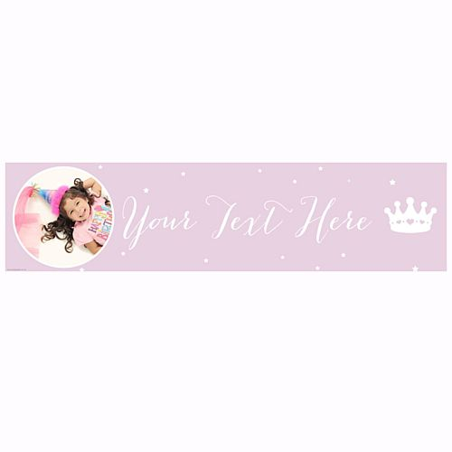Princess Perfection Personalised Photo Banner - 1.2m