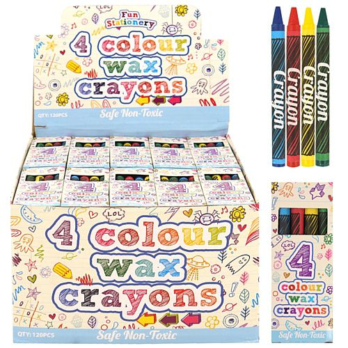 Box of 4 Wax Crayons - Pack of 120