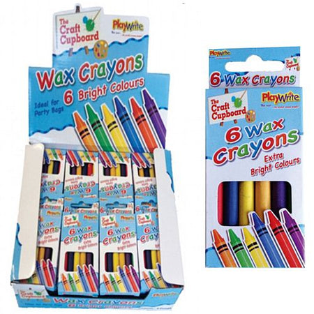 Box of 6 Wax Crayons - Pack of 48