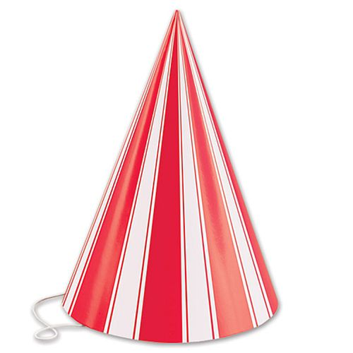 Striped Cone Hats - 16.5cm - Pack of 8