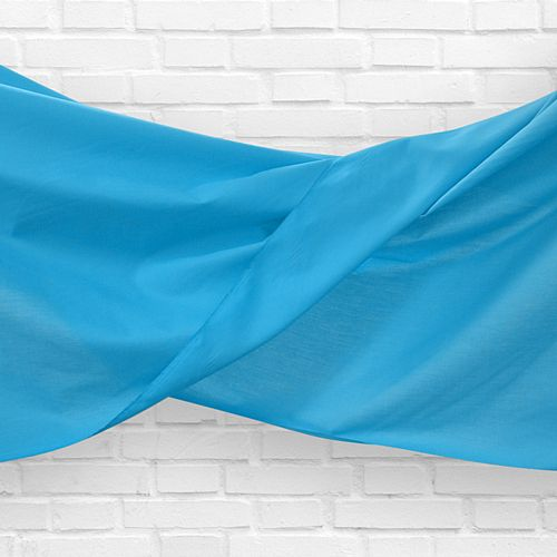 Light Blue Fabric Drapes - 1.1m Wide - Per Metre