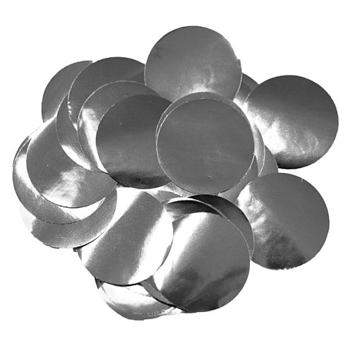 Metallic Silver Foil Dot 10mm Confetti - 14g