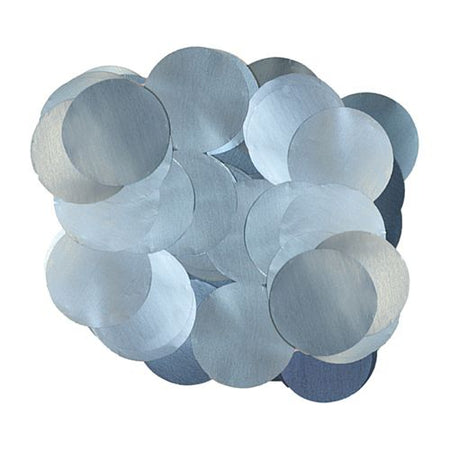 Pearl Light Blue Foil Dot 10mm Confetti - 14g