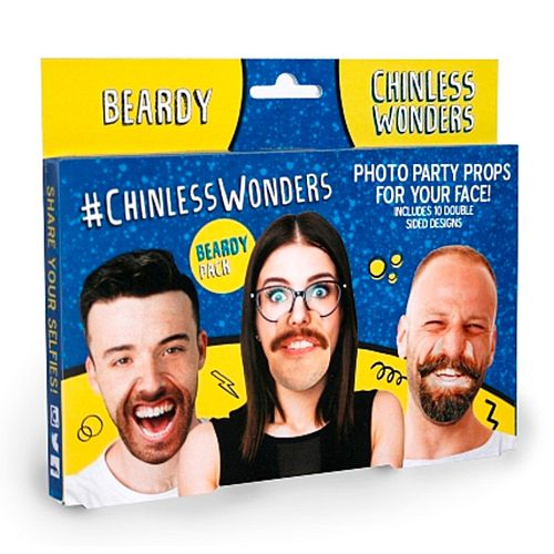 Beardy Chinless Wonders Photo Props - Pack 10