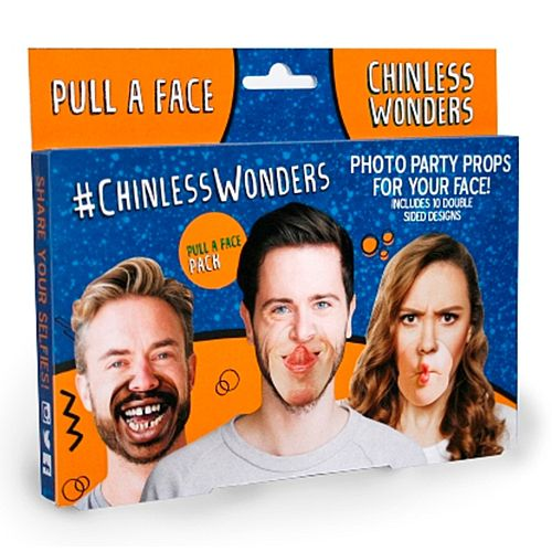 Pull a Face Chinless Wonders Photo Props - Pack 10