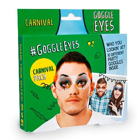 Carnival Goggle Eyes Photo Props - Pack of 10