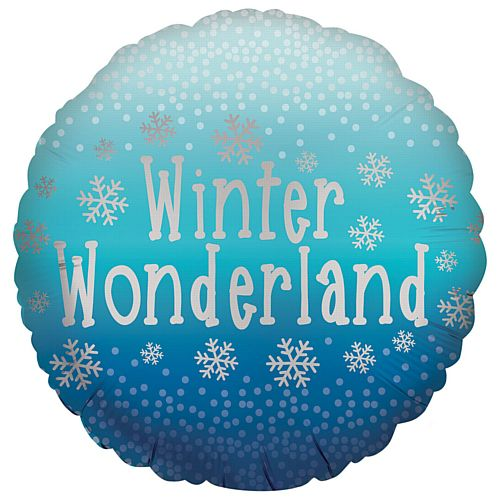 Winter Wonderland Satin Foil Balloon - 18""