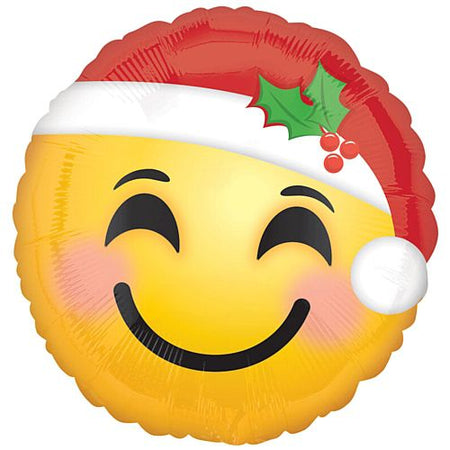 Click to view product details and reviews for Santa Hat Emoji Foil Balloon 18.