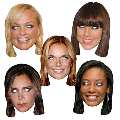 Spice Girls Celebrity Card Mask Pack