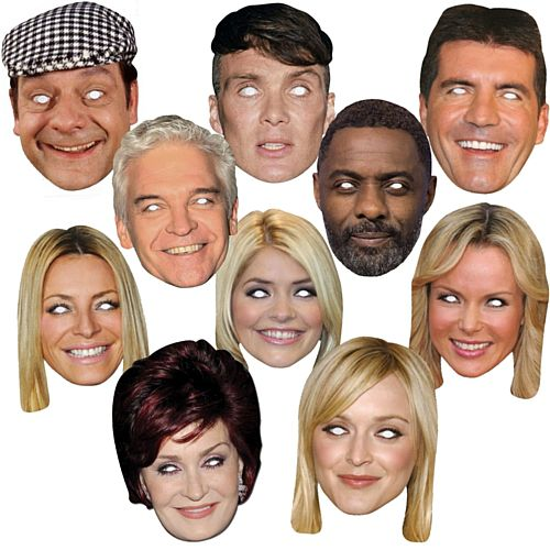 TV Celebrity Card Mask Pack - Pack of 10
