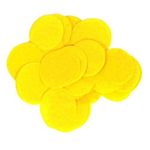 Biodegradable Yellow Paper Confetti 15mm - 14g