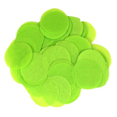 Biodegradable Lime Green Paper Confetti 15mm - 14g