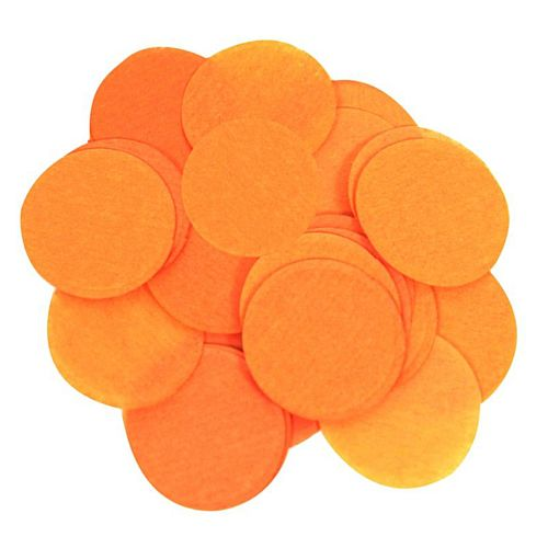 Biodegradable Orange Paper Confetti 15mm - 14g