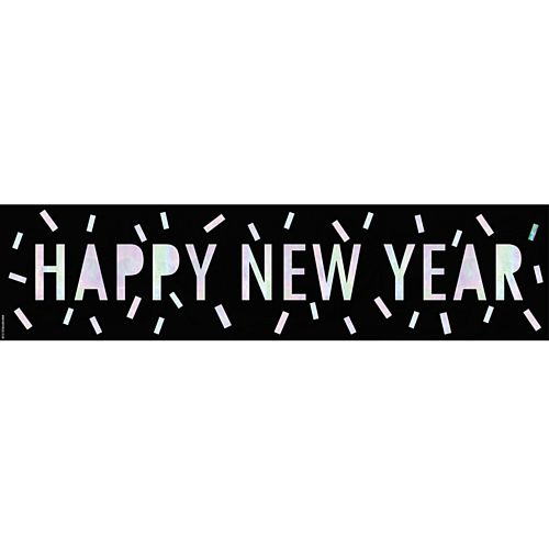 Happy New Year New Year Disco Banner - 120cm x 30cm
