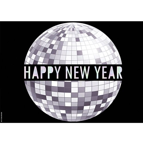 Happy New Year New Year Disco Poster - A3
