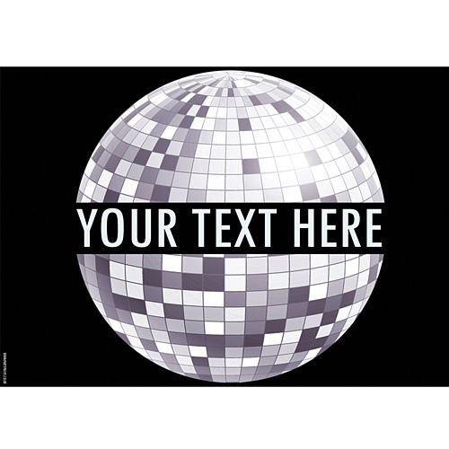 New Year Disco Personalised Poster - A3