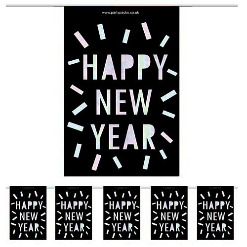 New Year Disco Small Flag Bunting - 2.4m