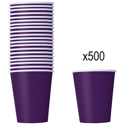 Purple Paper Cups - 266ml - Pack of 500
