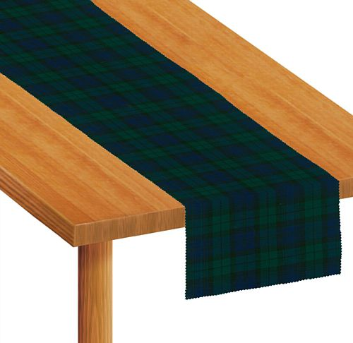 Blue Tartan Fabric Table Runner - Each