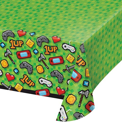 Gaming Party Plastic Tablecover - 2.6m