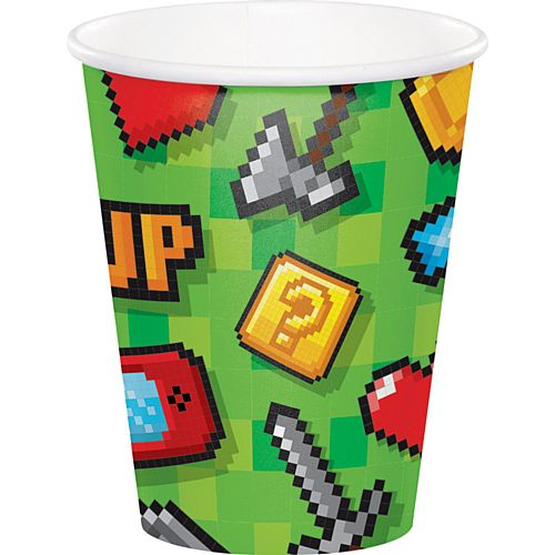 Gaming Party Paper Cups - Pack of 8