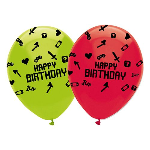 Gaming Party Latex Balloons - Pack of 6