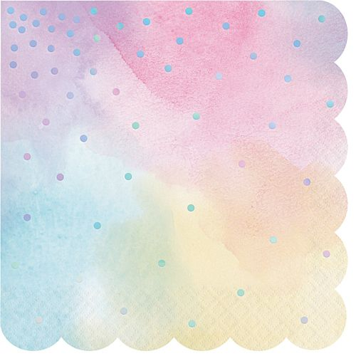 Iridescent Shaped Napkins - Pack of 16