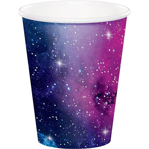 Galaxy Party Paper Cups - 9oz - Pack of 8