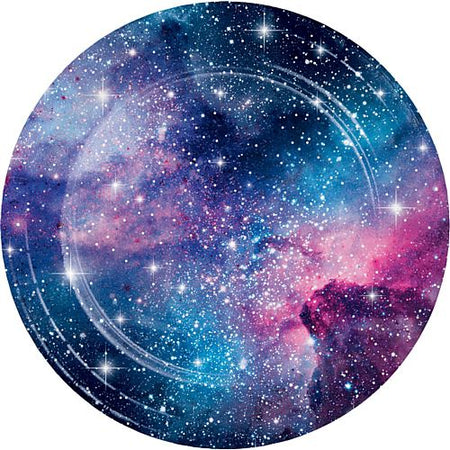 Galaxy Party Dinner Plates - 23cm - Pack of 8