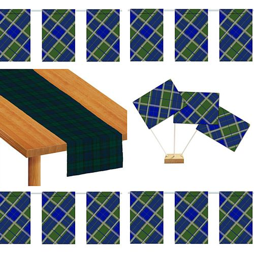 Blue Tartan Decoration Pack