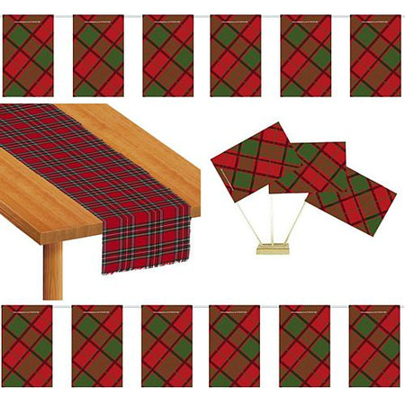Red Tartan Decoration Pack