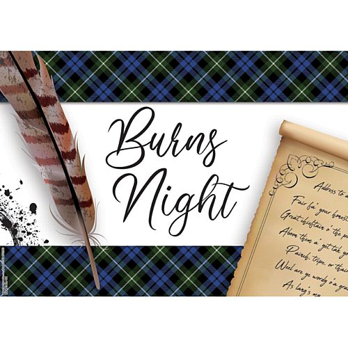 Burns Night Scroll Poster - A3