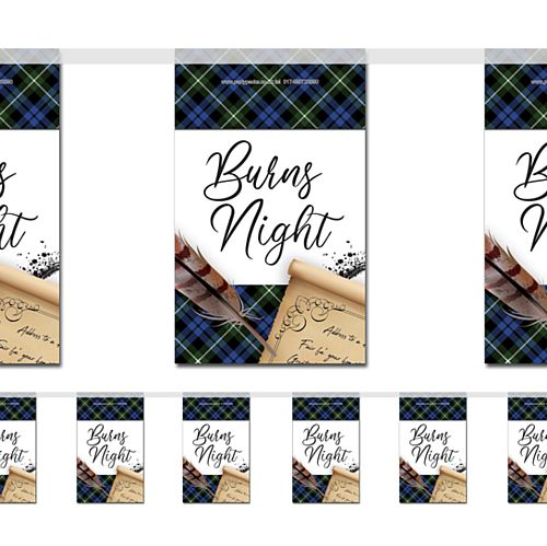 Burns Night Scroll Small Flag Interior Bunting - 2.4m