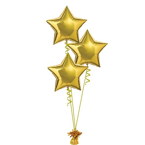Gold Foil Star Balloon Bunch - 18""