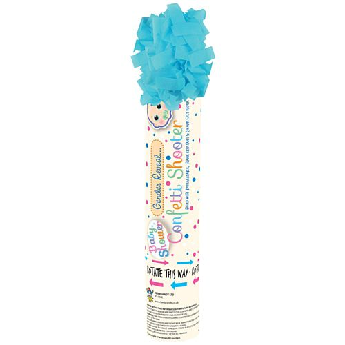 It's A Boy Gender Reveal Blue Paper Confetti Cannon - 20cm - Each